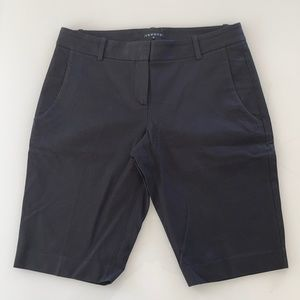 Theory Black Bermuda shorts with stretch